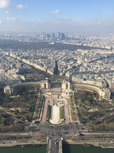 A view from the top of the Eiffel Tower