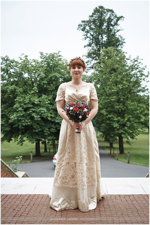1895 Belle Epoque vintage wedding dress