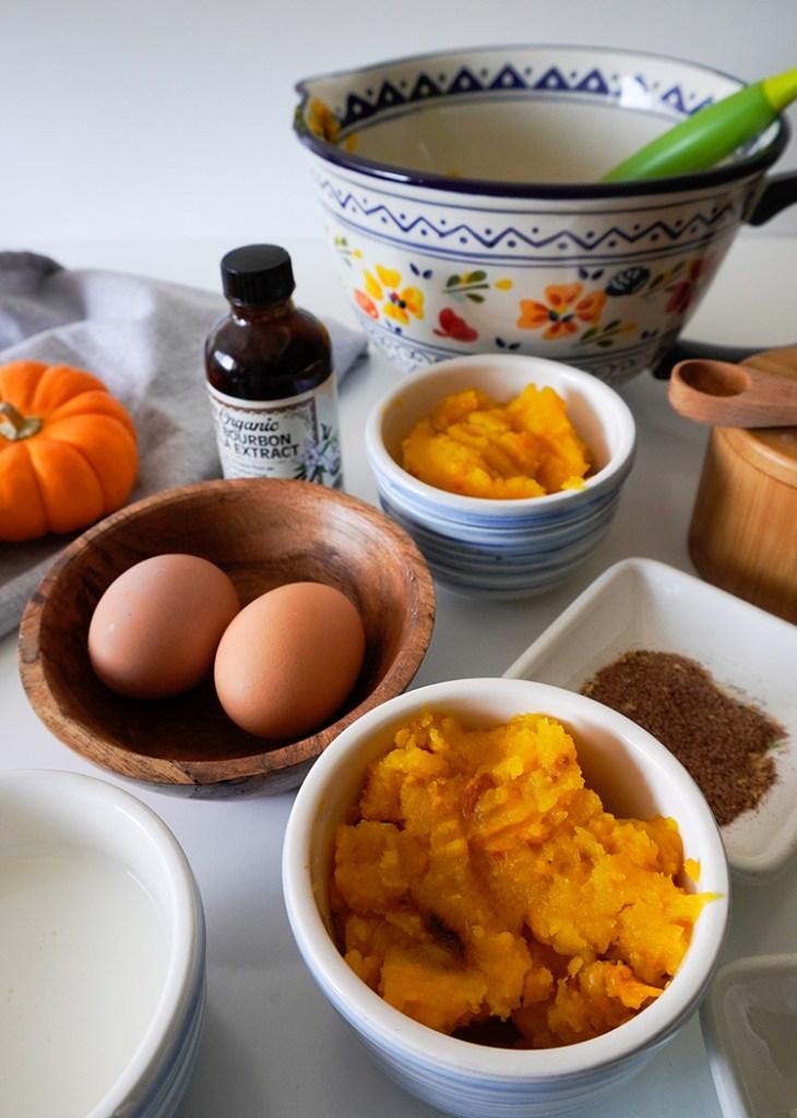 keto pumpkin pie ingredients