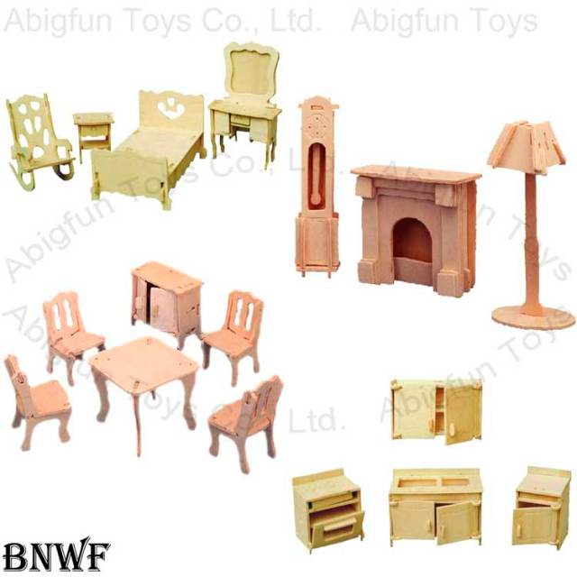 wood craft furniture, wooden construction kit, wood 3d puzzle, wood ...