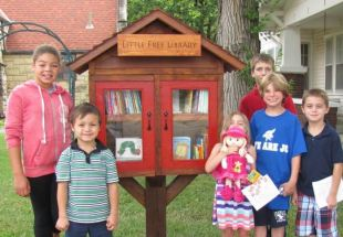 Little Free Libraries operate on the principle of sharing - take a book, return a book.