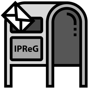 Postkasten mit Aufschrift: IPReG