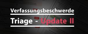 Text: Verfassungsbeschwerde Triage - Update 2
