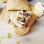 Lemon Lavender Cheese on Pita Chip from The Sanctuary at Soledad