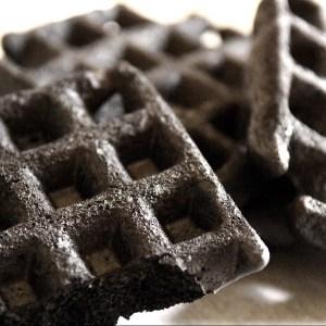 black velvet flavored waffles