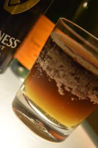 Black Velvet with Moet & Chandon topped with Guinness