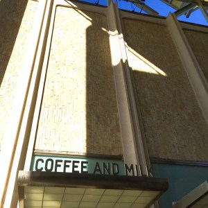 stop by Coffee and Milk for an espresso before your visit to the Rain Room