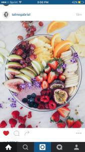An example of a yogurt bowl from Instagram