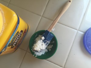 add corn starch to mixing bowl