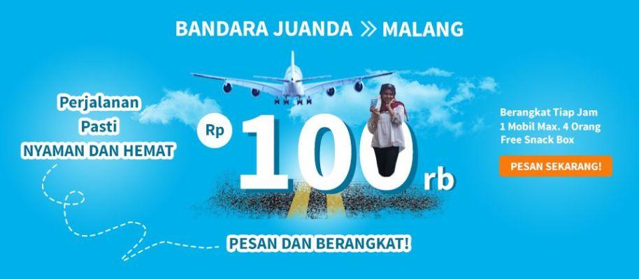 Travel Bandara Juanda ke Malang Kota