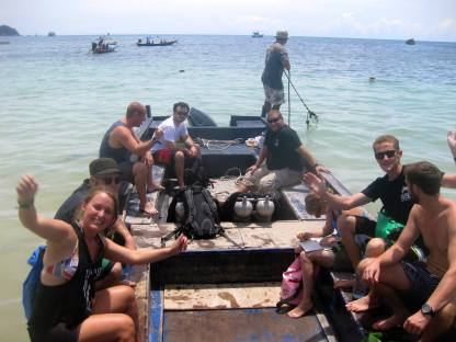 longtail diving in Koh tao Thailand with Big Blue Scuba tech diving