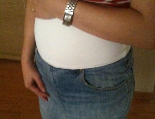 DIY Maternity Denim Skirt