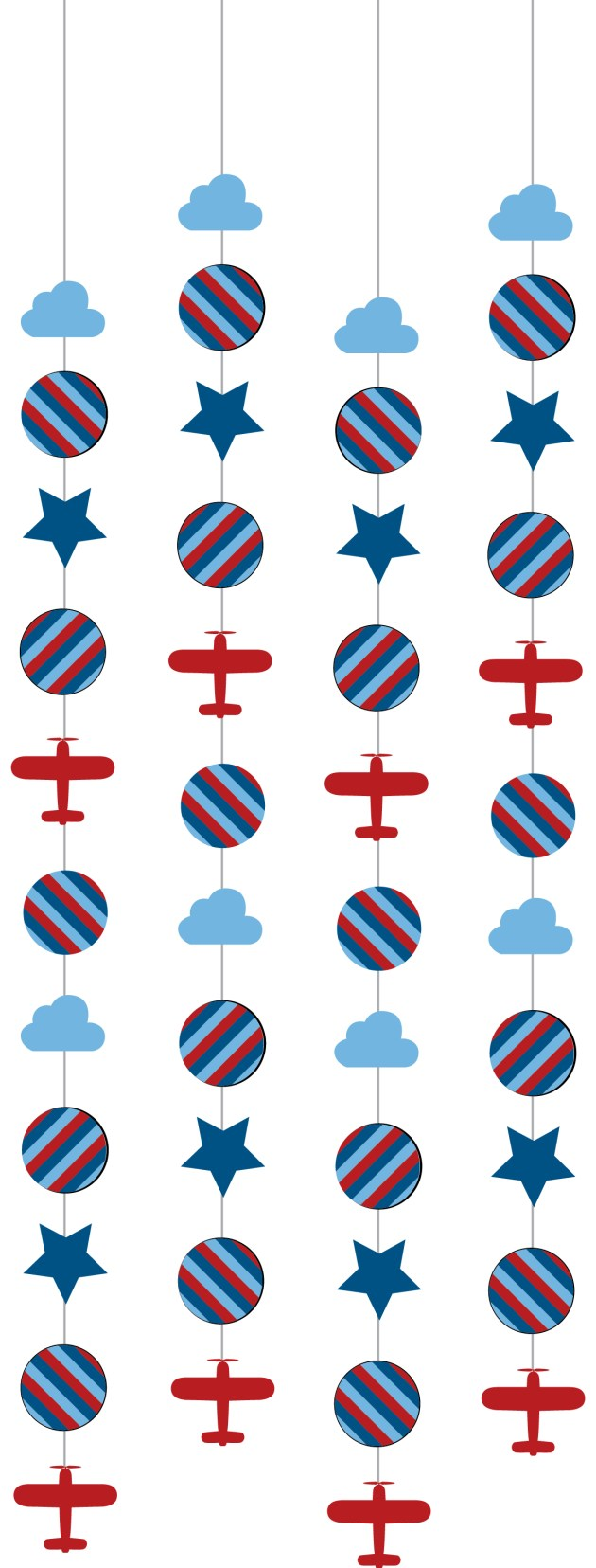 Travel Theme Birthday hanging garland