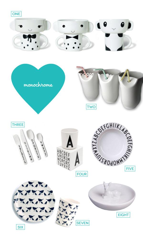 monochrome-tableware