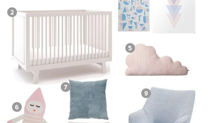 Project Modern Nursery: Pantone Colours 2016 Serenity Blue & Rose Quartz