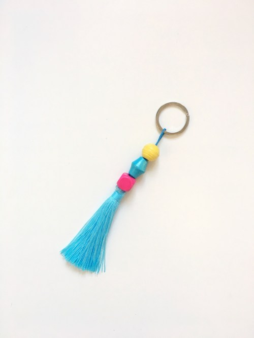 A Bird with a French Fry - Tassel Keyrings