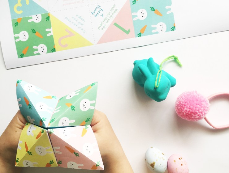 A Bird with a French Fry - Easter Cootie Catcher