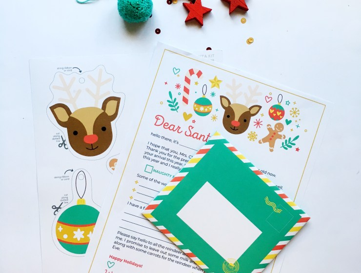 Letter to Santa Kit - Printable Template - A Bird with a French Fry