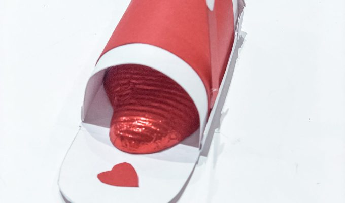 A Bird with a French Fry - Valentine Mini Mailbox DIY Craft