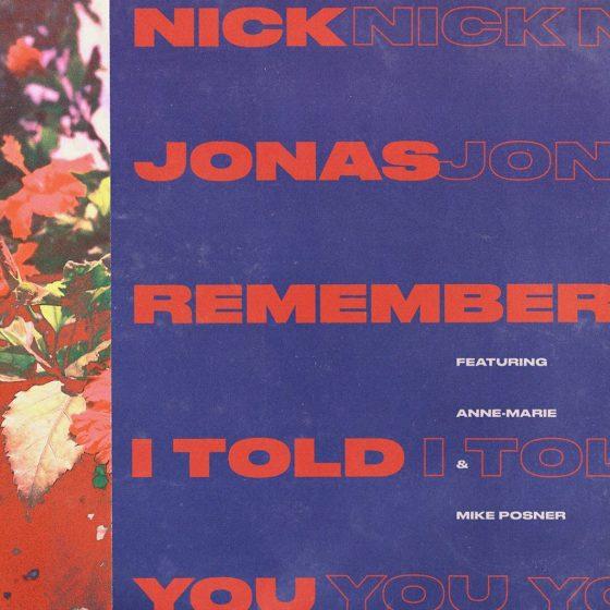 Nick Jonas Remember I Told You