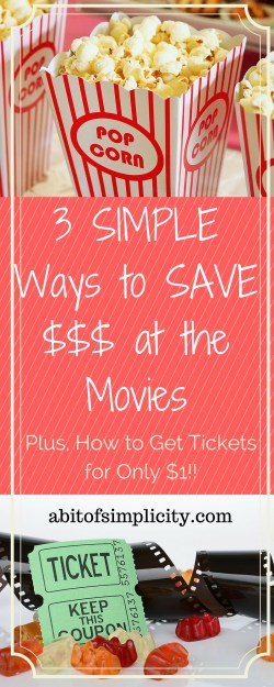 3 SIMPLE ways to SAVE MONEY at the movies!! Plus, how to get tickets for $1!