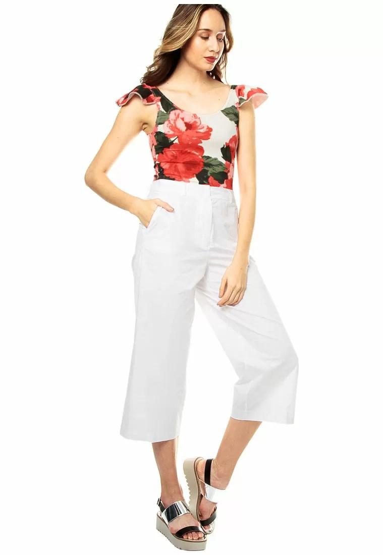Crop Top Flores Rojoblanco