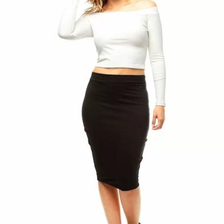 Falda negra  Falda tubo  Falda larga