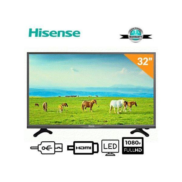 Hisense 32Inch HD TV Black With 12 Months Warranty