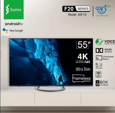 Syinix 55 Inch 4K Ultra HD Android Smart TV (Ultra Slim)