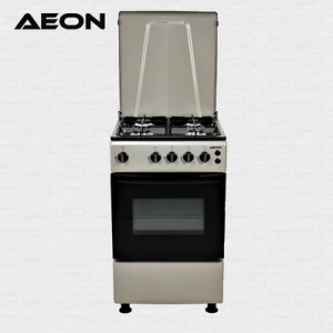 Aeon Gas Cooker 50×50 4 Gas Silver