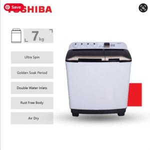 Toshiba 7KG Twin Tub Washing Machine