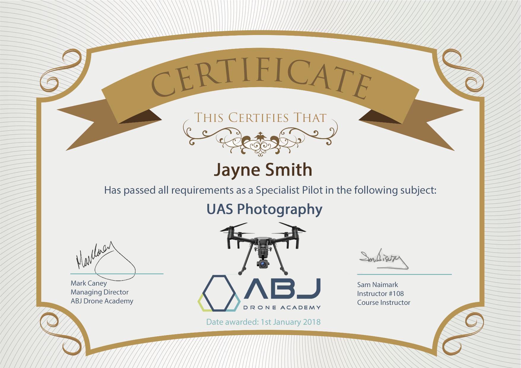 Abj Drone Academy Specialist Certificate Abj Drone Academy