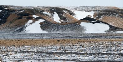 Landschaft mit Schnee