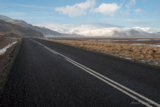 Road Trip mit Blick auf den Mýrdalsjökull