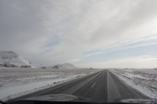 Road Trip mit Schnee