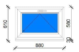 90x60 műanyag ablak