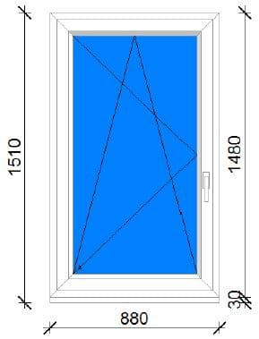 90x150 műanyag ablak ára