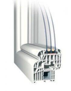 műanyag ablak légkamráinak túlhalmozása, csökkenti az ablak stabilítását