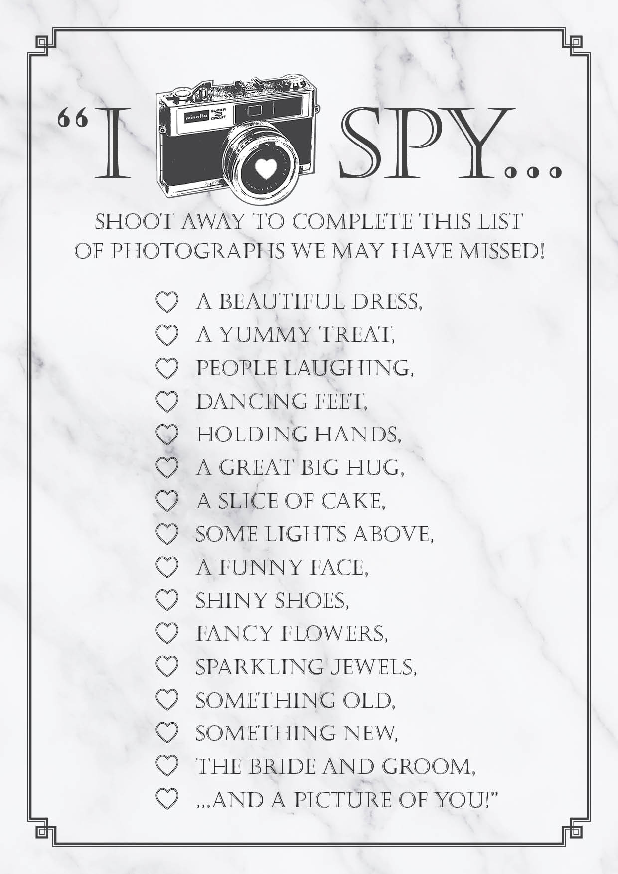 I spy list