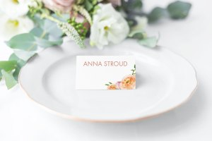 Just Peachy Place Card