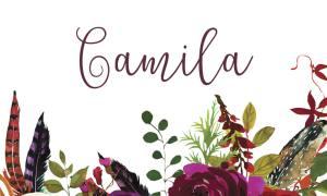 Autumnal name card