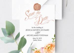 Just Peachy Save The Date