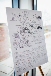 Illustrated Map on Easel