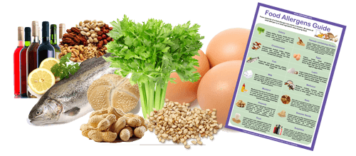Food Allergen Guide - allergens and ingredients