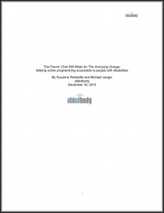 Title Cover of Abledbody White Paper on Video Accessibility