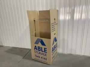 Cardboard portarobe wardrobe moving box