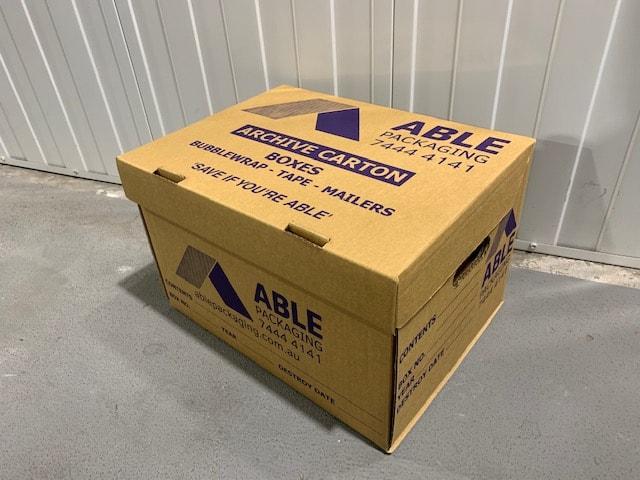 Archive Carton Cardboard Adelaide