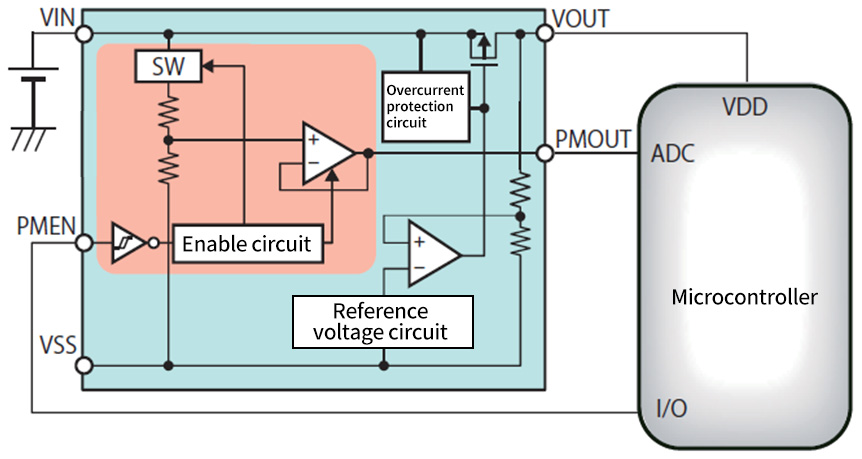 """Simple Battery Monitoring! IC With A """"supply Voltage"""