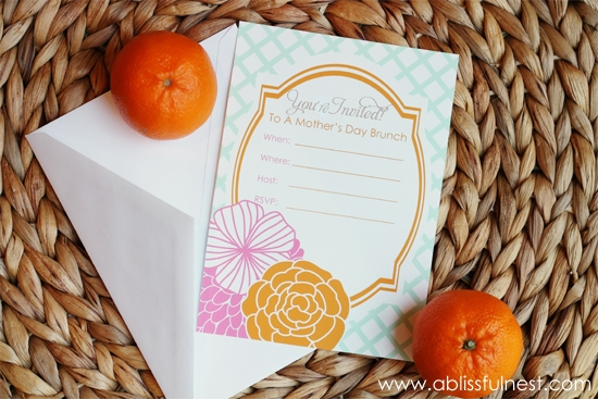 Free Printable Mother's Day Invitation