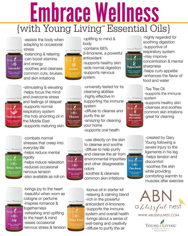 Young Living Information via A Blissful Nest